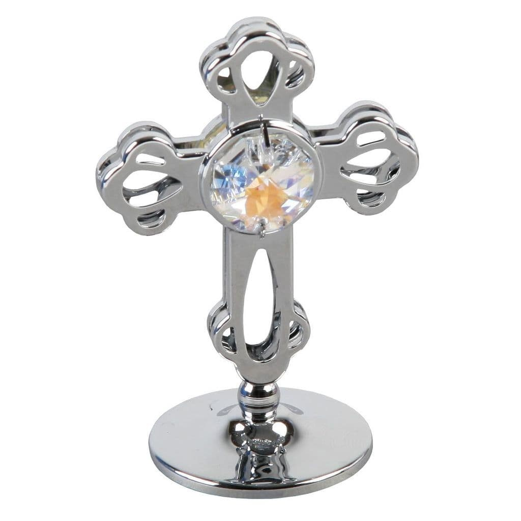 Crystocraft Cross Chrome Plated